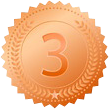 Bronze Medal - Third Placed Muscle Building Test Booster
