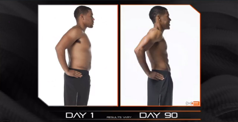 P90X3 - Before and After